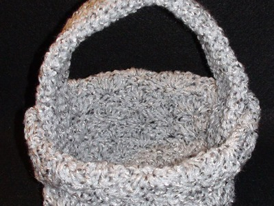 Crochet Shell Basket - Marceline Left Hand Version Crochet Geek