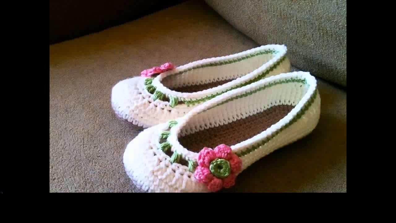Crochet slippers for girls