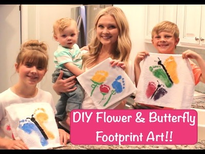 DIY Flower & Butterfly Footprint Art!!