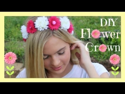 DIY Flower Crown | DIY Flower Headband | DIY Coachella Festival Fashion | jrzgirlz