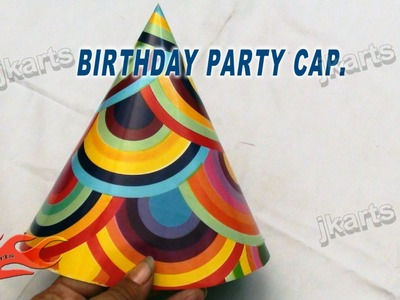 DIY How to make Birthday Party Paper Cap JK Arts 166