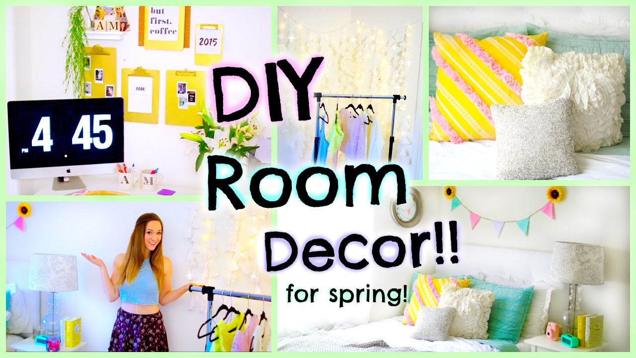 DIY Room Decor for Spring 2015! Easy Decorations for Cheap!