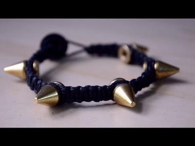 DIY Spike Macramé Bracelet ft. StudsAndSpikes.com + Giveaway!