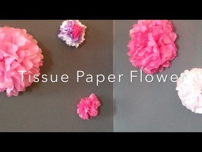 DIY: Tissue Paper Flower Wall Decor ♡ {Room Decor} ♡ Jessica Joaquin