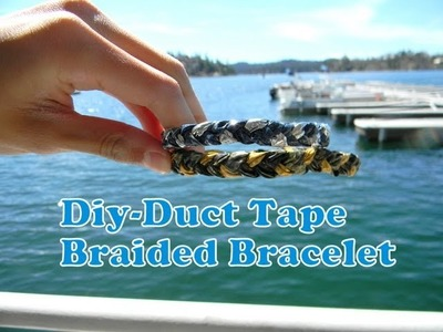 Diy-Tutorial:Braided Duct Tape Bracelet With And Without Magnets