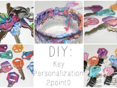 DIY: Water Marbled Keys ♡ {#PersonalizeIt} ♡ Jessica Joaquin