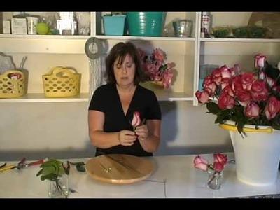 DIY Wedding Flowers: Rose Boutonniere,  part 2