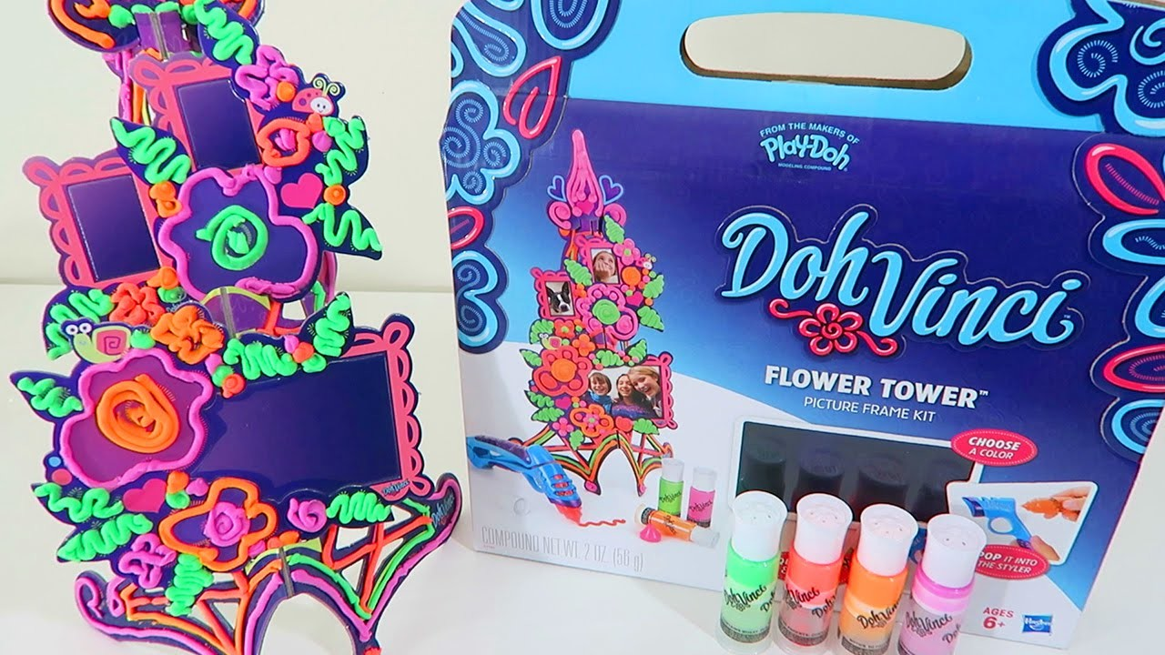 Doh Vinci Flower Tower by Hasbro Toys Play Doh Arts & Crafts Playset Unboxing and Review!