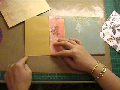 Envelope Mini Album Tutorial Part 1 using Bo Bunny 'Gabrielle'