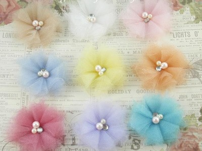 Fabric tulle flower tutorial