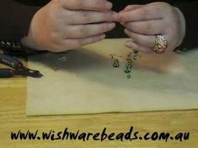 Flower Dangle Earrings Swarovski@ Wishware Beading Classes