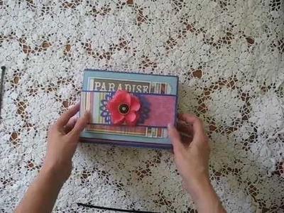 Fold-out Folio Scrapbook Mini Album (Vacation Theme)