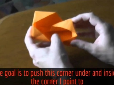 Four dimensional origami box, 4D collapsing box origami Tutorial Part 2