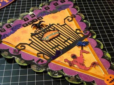 Halloween scrapbook craft project