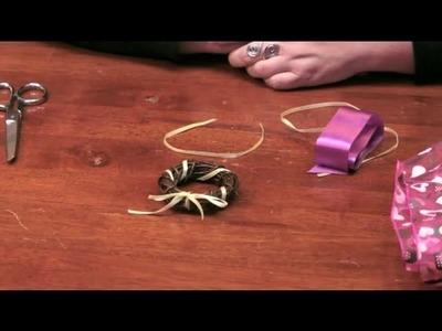 Handmade Fabric Wreath Bows : DIY Crafts
