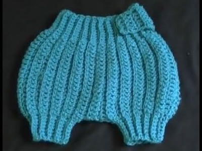 How to Crochet a Diaper.Nappy Cover Part 3 of 4 - Cats One Peice Wonder