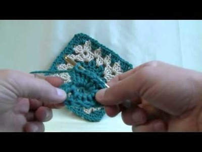 How To Crochet Color Burst Afghan Part 1