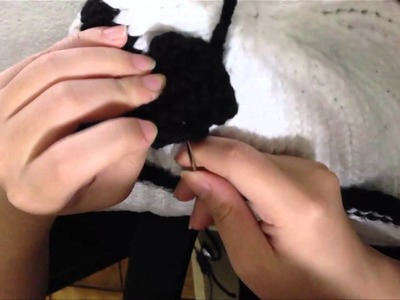 How to Knit Panda Hat Step by Step Tutorials (Part 4: The Ears), Secure Stitching