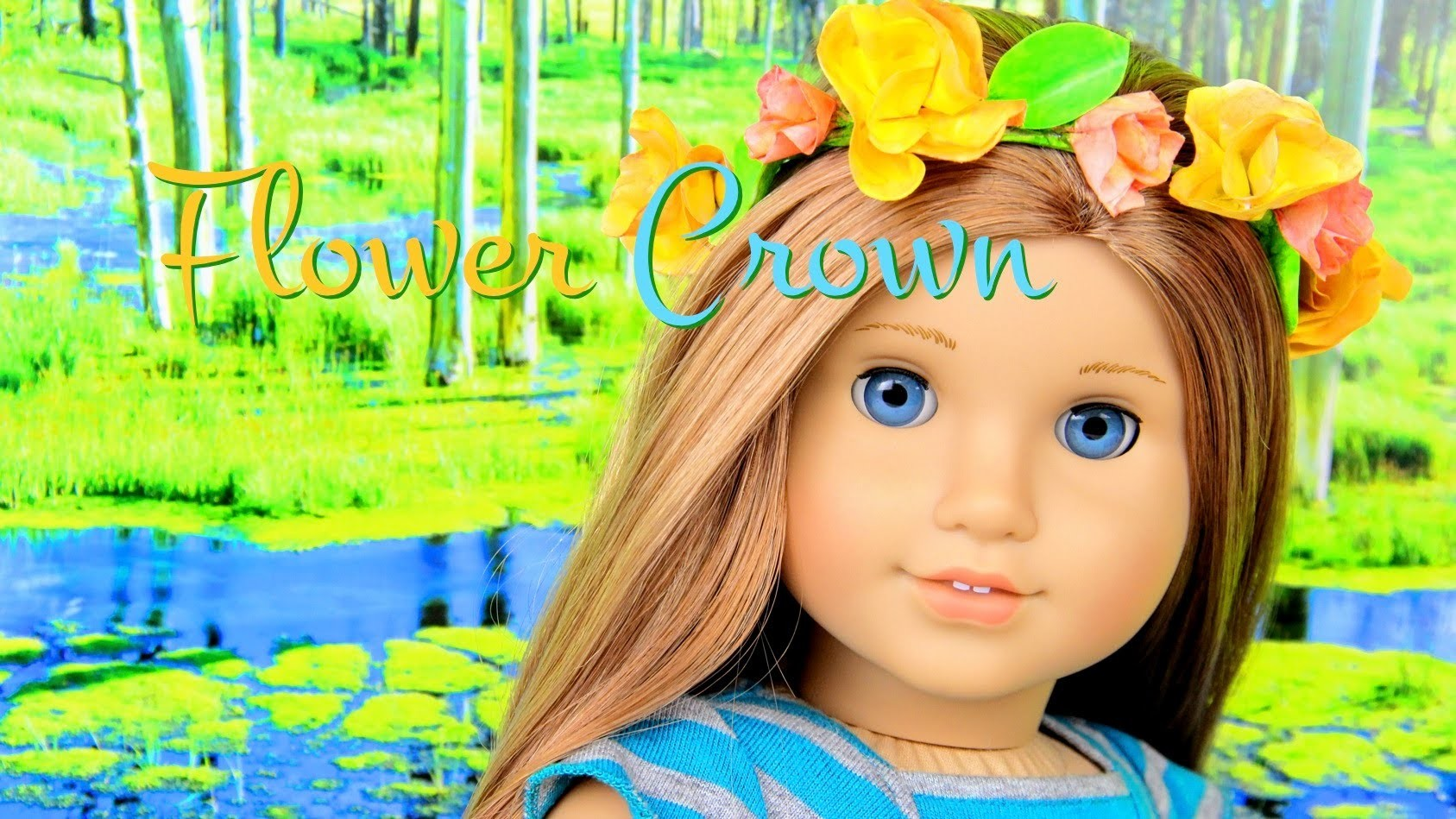 How to Make a Doll Flower Crown - Doll Crafts