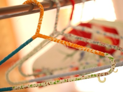 How to Make Wrapped Hangers and Hanger Covers || KIN DIY