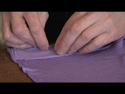 How to Sew a Simple Skirt From Knit Fabric : Sewing for Dresses
