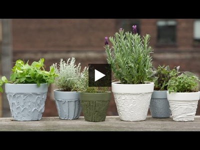 Interior Design — DIY Easy Sculpted & Painted Plant Pots