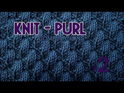 Left Diagonal  |  Knit & Purl Stitch Combinations #2