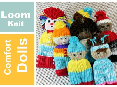 LOOM KNITTING Projects DOLL TOY Comfort Izzy Duzuza Softies and Pocket Pals