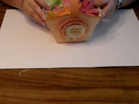 Making a Paper basket from 12X12 paper
