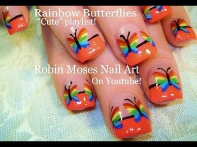 Nail Art Tutorial | Easy Rainbow Butterfly Nails | Cute Spring Nail Design