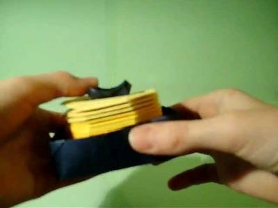 Origami slinky stand