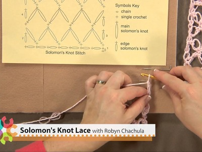 Preview Solomon's Knot Lace Crochet Video with Robyn Chachula