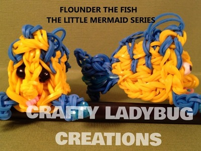 Rainbow Loom Charm FLOUNDER or FISH Advanced Tutorial by Crafty Ladybug