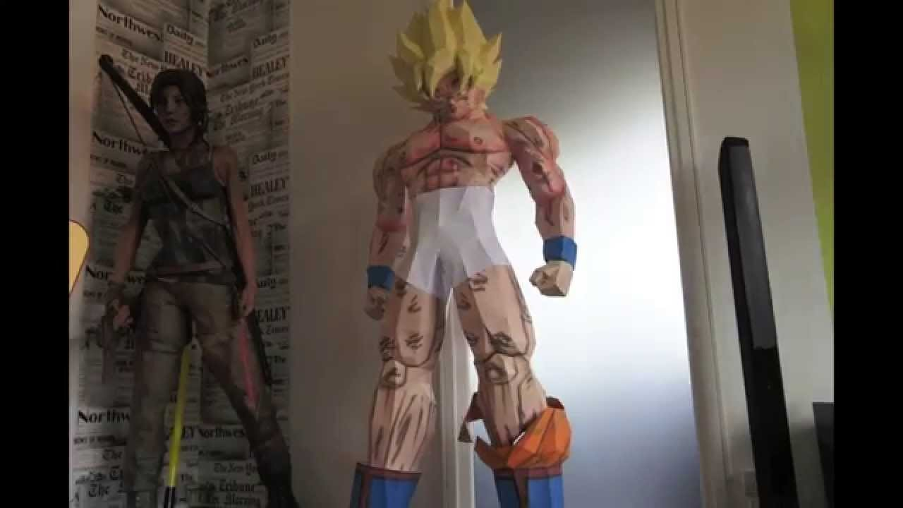 Sangoku Super Saiyan (Dragon Ball) Papercraft Stop Motion