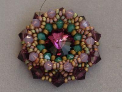 Sidonia's handmade jewelry - Swarovski flower pendant