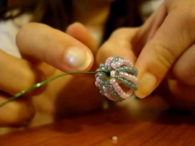 Tutorial perline (Beaded Bead): come rivestire una perla con perline di conteria | Tutorial Perline
