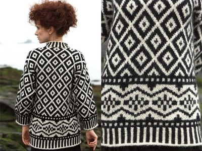 #4 Oversize Nordic Pull, Vogue Knitting Fall 2011