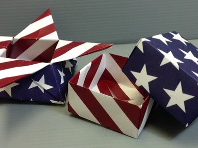 American Flag Stars and Stripes Origami Paper