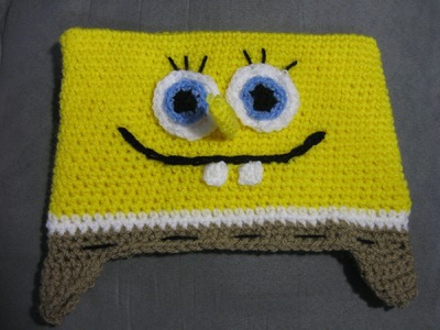 Bob the Sponge Beanie - Left Handed Verison - Crochet Tutorial