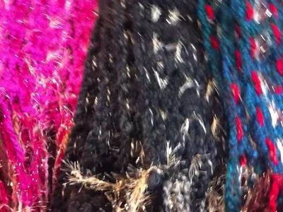 Crafty Chica Crochet Sparkle Scarves! || DIY Scarf