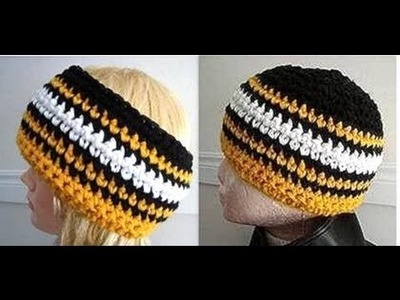 CROCHET HAT PATTERN, Team hats or headbands, how to diy