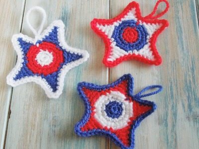 (crochet) How To - Crochet 4th July Stars - Yarn Scrap Friday