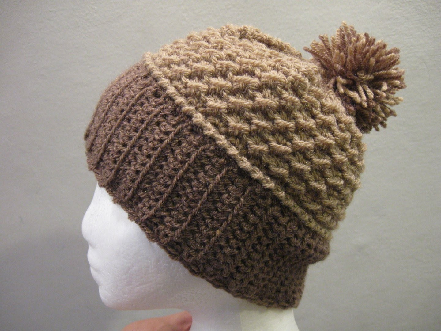 Crochet Moss Stitch Beanie - Left Handed Version - Crochet tutorial