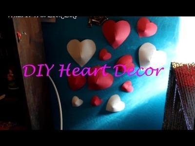 DIY - 3D HEART WALL DECOR