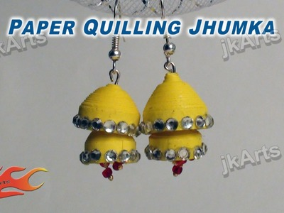 DIY How to make Paper Quilling Jhumka - JK Arts  340