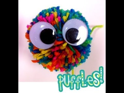DIY POMPOM : HOw to Make a Puffle.