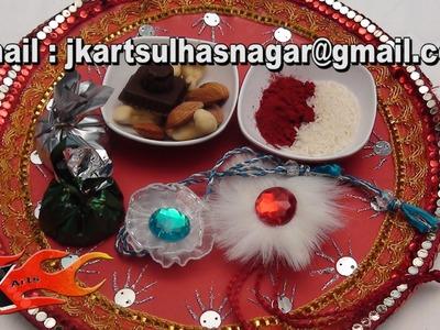 DIY Pooja Thali Decoration - JK Arts 045