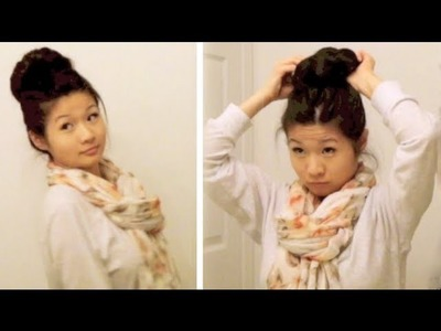 DIY: Quick and Easy Messy Sock Bun Hair Tutorial