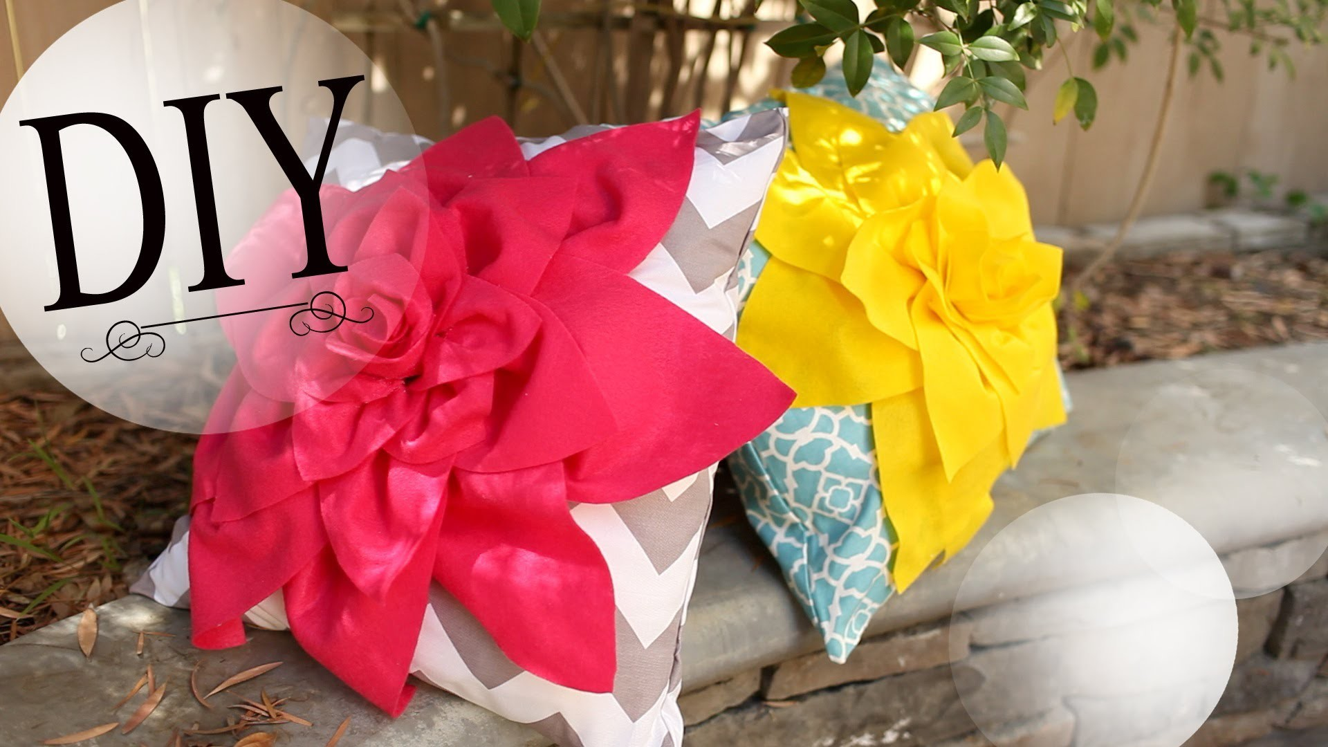 DIY Room Decor: How to Make a Cute Flower Pillow