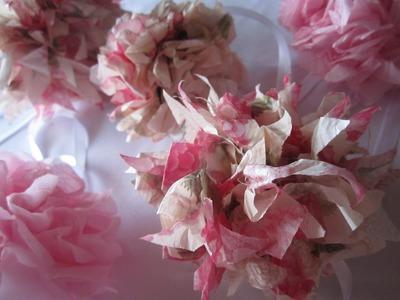 DIY Tissue Paper Pom Poms (Weddings, Decoration, Valentines)